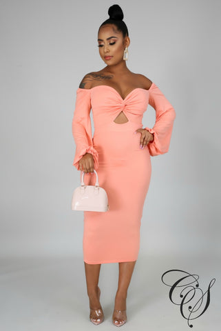Kaiya Off Shoulder Midi Dress