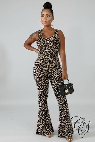 Kali Cheetah Crop Top Set