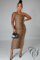 Kat Animal Print Midi Dress