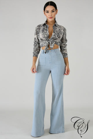 Katrina High Waist Bell Bottoms Jeans