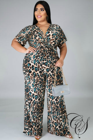 Kendall Animal Print Jumpsuit