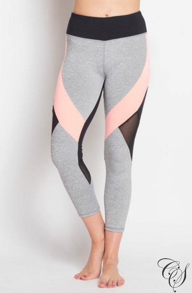 Keona Active Sheer Mesh Panel Capri Leggings, active wear - Designs By Cece Symoné