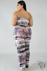 Kira Tube Smudge Jumpsuit