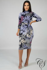 Layla Floral Midi Dress, Dresses - Designs By Cece Symoné