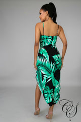 Lela Palm Twist Dress