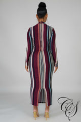Lia Metallic Striped Midi Dress, Dresses - Designs By Cece Symoné