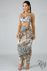 Liz Wild Skirt Set