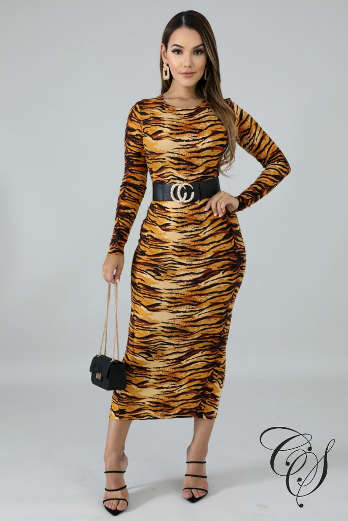 Lynn Fierce Stripes Midi Dress, Dresses - Designs By Cece Symoné