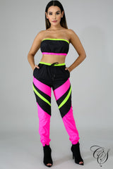 Maisie Tube Chevron Jogger Set, Set - Designs By Cece Symoné