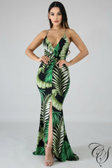 Marie Hourglass Palms Mermaid Dress, Dresses - Designs By Cece Symoné