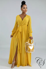 Mariella Double Slit Maxi Dress, Dresses - Designs By Cece Symoné