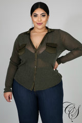 Mary Sheer Sparkle Blouse, Top - Designs By Cece Symoné