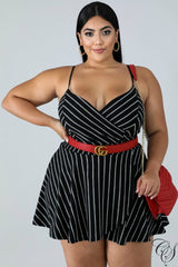 Maya Pinstripe Skort Dress, Romper - Designs By Cece Symoné