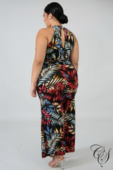 Mel Exotic Leaves Jumper, Jumpsuit - Designs By Cece Symoné