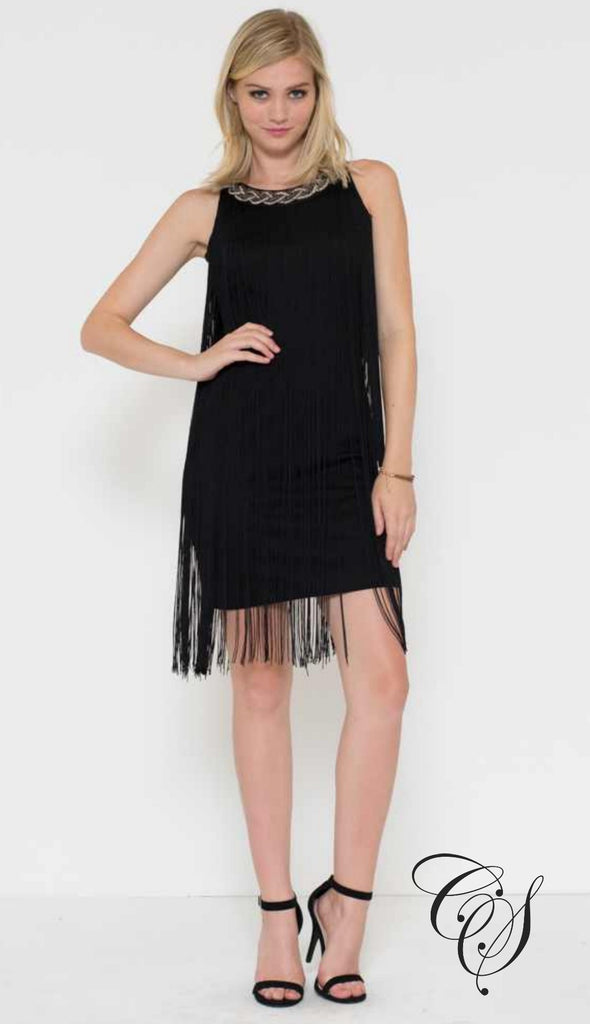 Melissa Fringe Shift Dress, Dresses - Designs By Cece Symoné