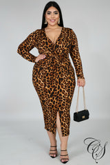 Mila Twist Midi Dress, Dresses - Designs By Cece Symoné