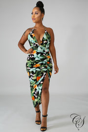 Milan Floral Scrunch Dress, Dresses - Designs By Cece Symoné