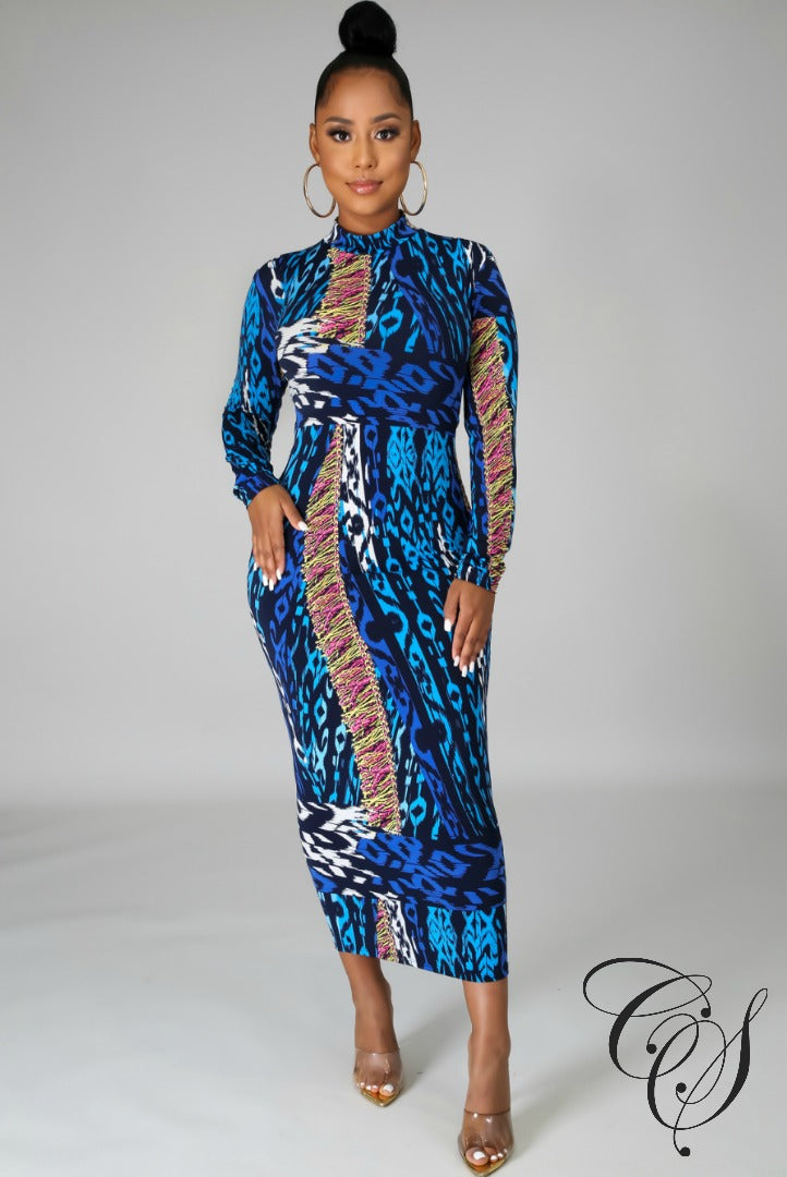 Mina Wild Dream Midi Dress
