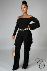 Monique Ruffling Jumpsuit, Jumpsuit - Designs By Cece Symoné