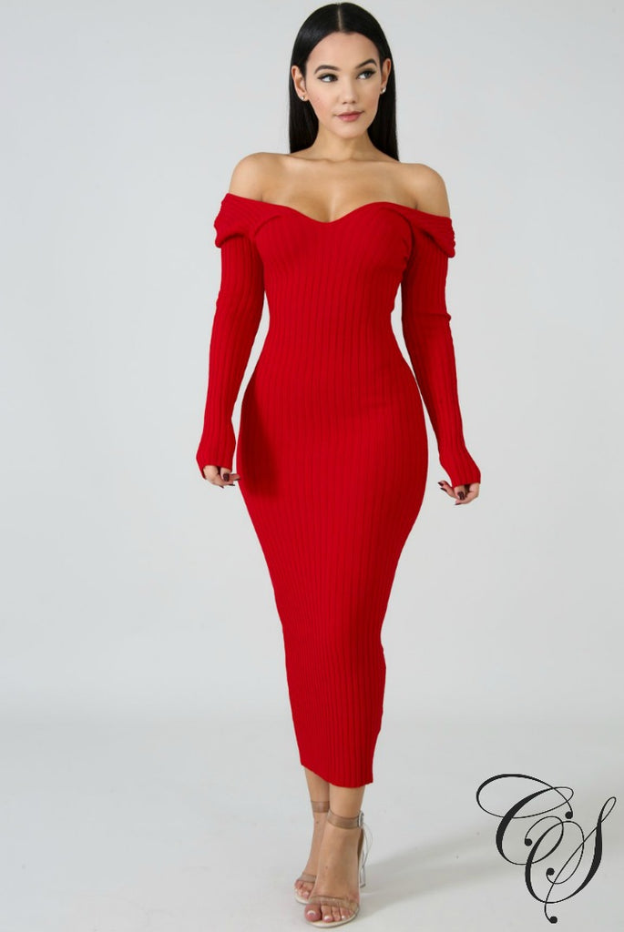 Nia Classic Rib Knit Dress, Dresses - Designs By Cece Symoné
