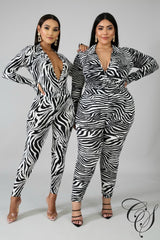 Paige Fierce Stripes Bodysuit Set, Set - Designs By Cece Symoné