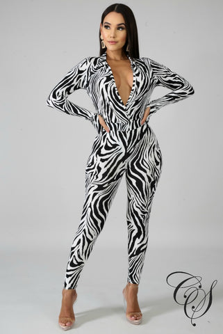 Paige Fierce Stripes Bodysuit Set