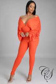 Patrice Deep V-Neck Jumpsuit