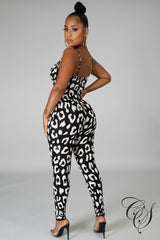 Patti Animal Print Jumpsuit Set