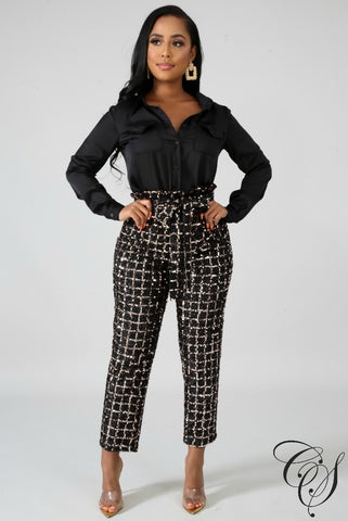 Ruth Sequin Boxy Pants