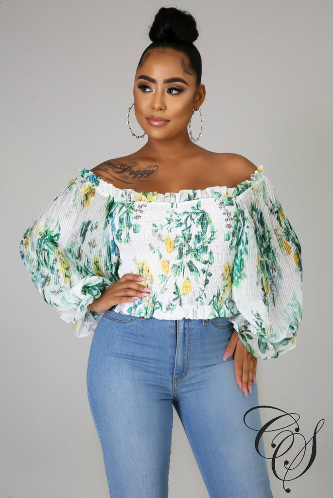 Peyton Pleated Meadow Top,  - Designs By Cece Symoné