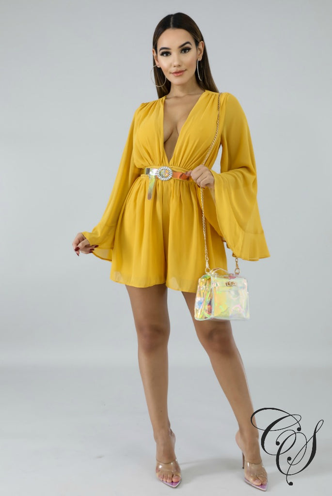 Poppy Clinched Romper, Romper - Designs By Cece Symoné