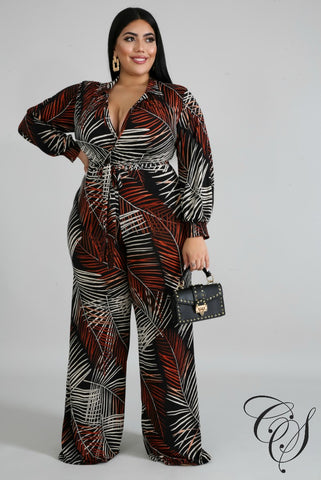 Renee Tropical Jumpsuit