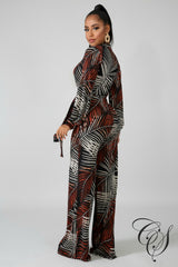Renee Tropical Jumpsuit, Jumpsuit - Designs By Cece Symoné
