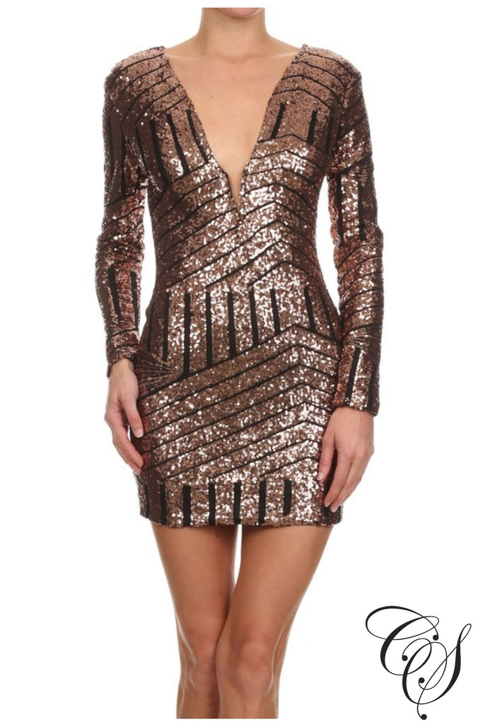 Roxanne Sequin Dress, Dresses - Designs By Cece Symoné