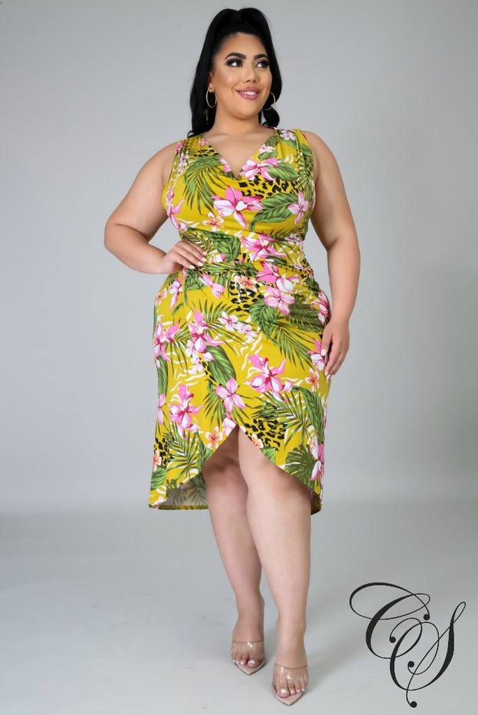 Royce Floral Feline Dress, Dresses - Designs By Cece Symoné
