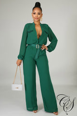 Ruby Chiffon Jumpsuit, Jumpsuit - Designs By Cece Symoné