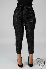 Ruth Sequin Boxy Pants, Pants - Designs By Cece Symoné