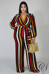 Samara Striped Jumpsuit, Jumpsuit - Designs By Cece Symoné