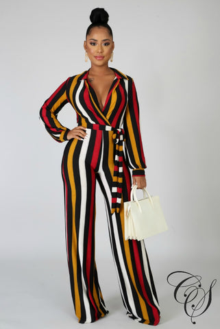 Samara Striped Jumpsuit