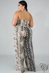 Sassy Snakeskin Tube Jumpsuit, Jumpsuit - Designs By Cece Symoné