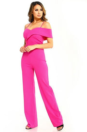 Anniversary Collection: One Shoulder Jumpsuit (Fuchsia), Jumpsuit - Designs By Cece Symoné