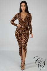 Stacey Twist Midi Dress, Dresses - Designs By Cece Symoné