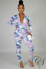 Steph Splash Bodysuit Set, Set - Designs By Cece Symoné