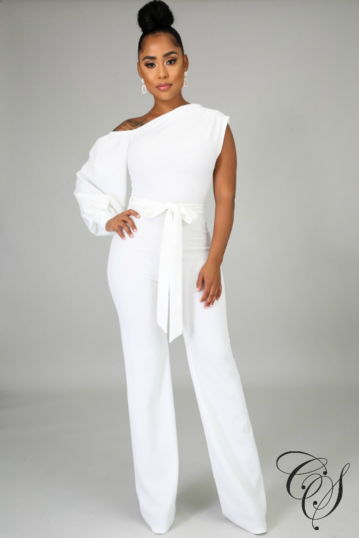 Taliyah Open Shoulder Jumpsuit, Jumpsuit - Designs By Cece Symoné