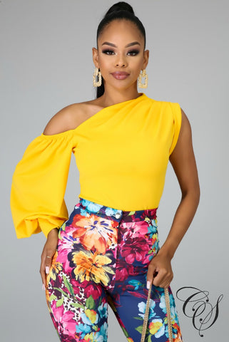 Tammi One Shoulder Puff Sleeve Top