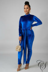 Tina Velvet Jumpsuit, Jumpsuit - Designs By Cece Symoné
