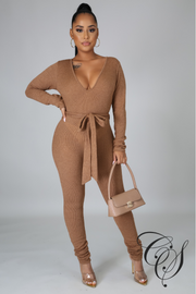 Loy Ribbed Knit Jumpsuit