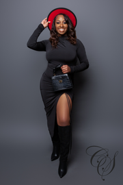 Monroe Turtle Neck Midi Dress