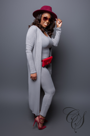 Latrice Two Piece Cardigan Jumpsuit Set