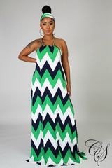 Willa Zig Zag Maxi Dress, Dresses - Designs By Cece Symoné